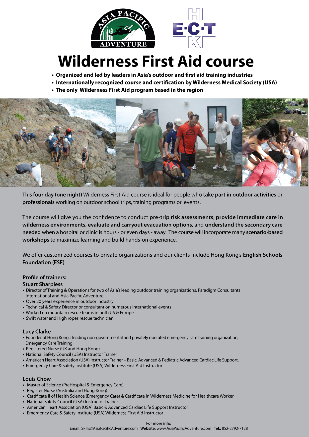 Wilderness First Aid - Asia Pacific Adventure